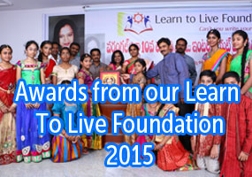 warangal for govt. school 10th and inter Toppers .... Awards from our Learn To Live Foundation